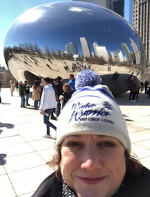 "Laurie Fox at ""the Bean"" in Chicago"