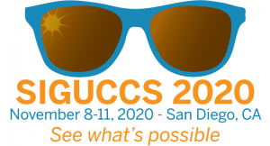sunglasses with information on the SIGUCCS 2020 conference